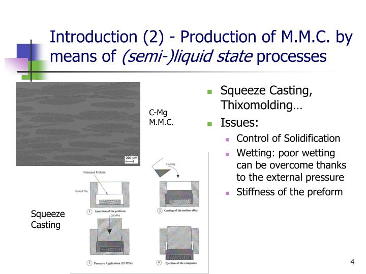 Introduction (2) - Production of M.M.C. by means of