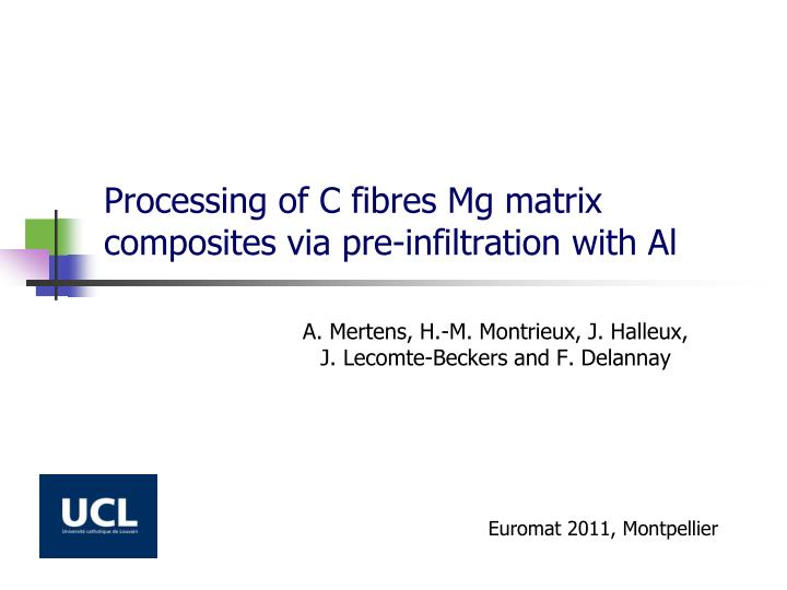 Processing of c fibres mg matrix composites via pre infiltration with al