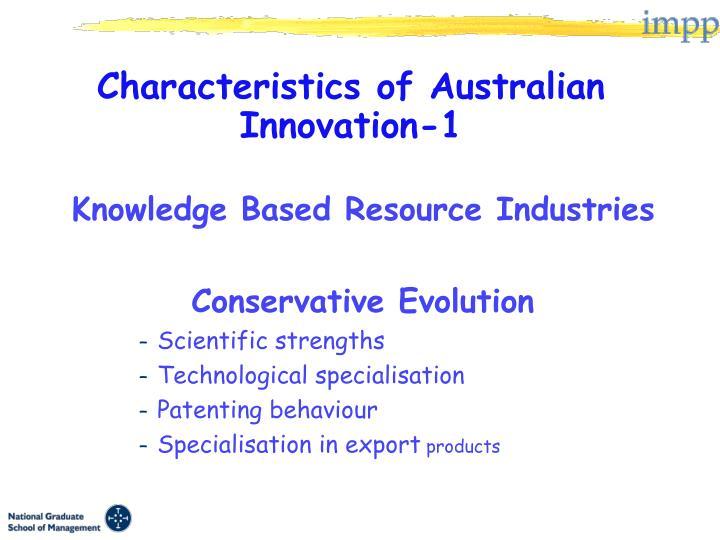 Characteristics of Australian Innovation-1