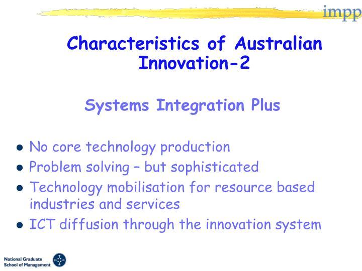 Characteristics of Australian Innovation-2