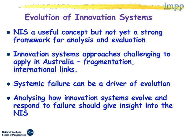 Evolution of Innovation Systems