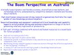 the boom perspective on australia