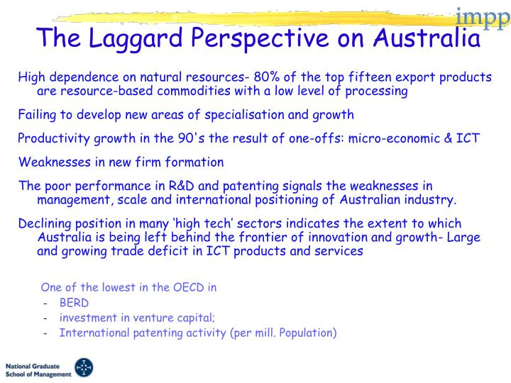 The laggard perspective on australia