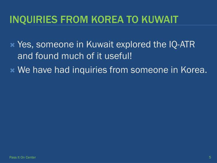 Yes, someone in Kuwait explored the IQ-ATR and found much of it useful!
