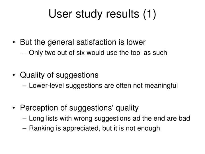User study results (1)