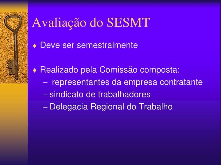 Avaliação do SESMT