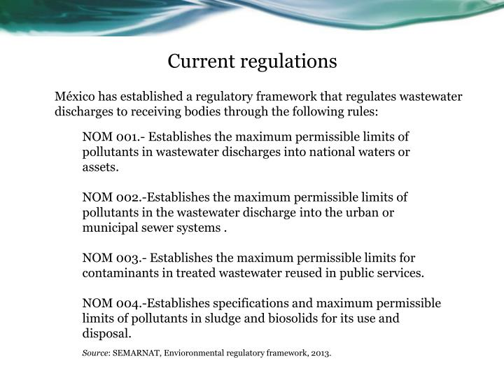 Current regulations