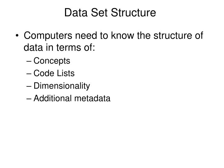 Data Set Structure