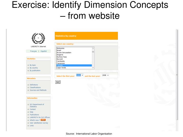 Exercise: Identify Dimension Concepts – from website