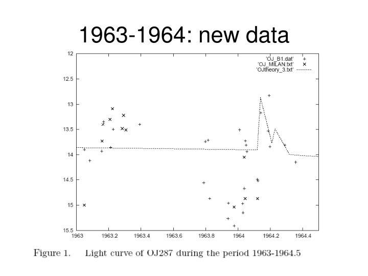 1963-1964: new data