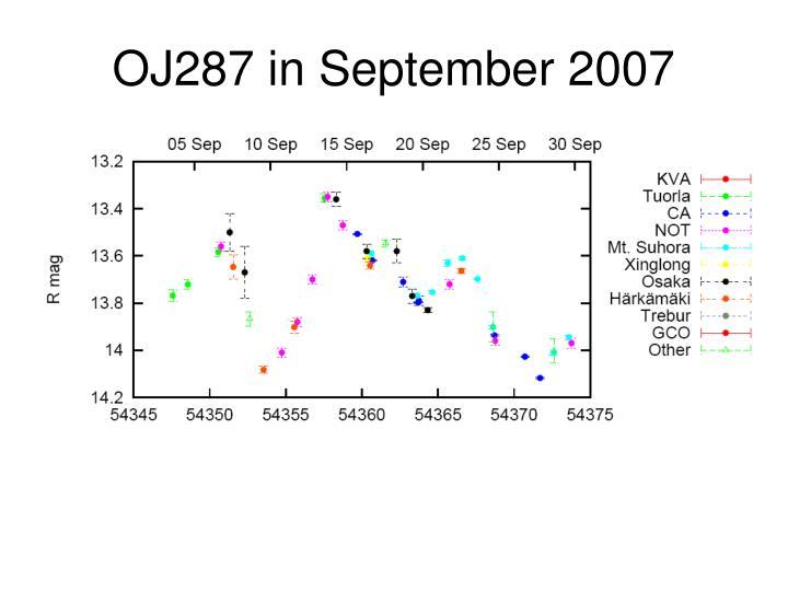 OJ287 in September 2007