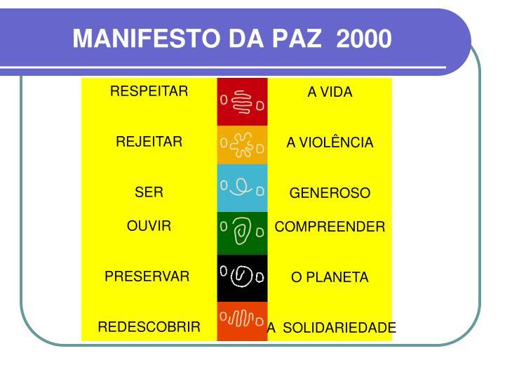 MANIFESTO DA PAZ  2000