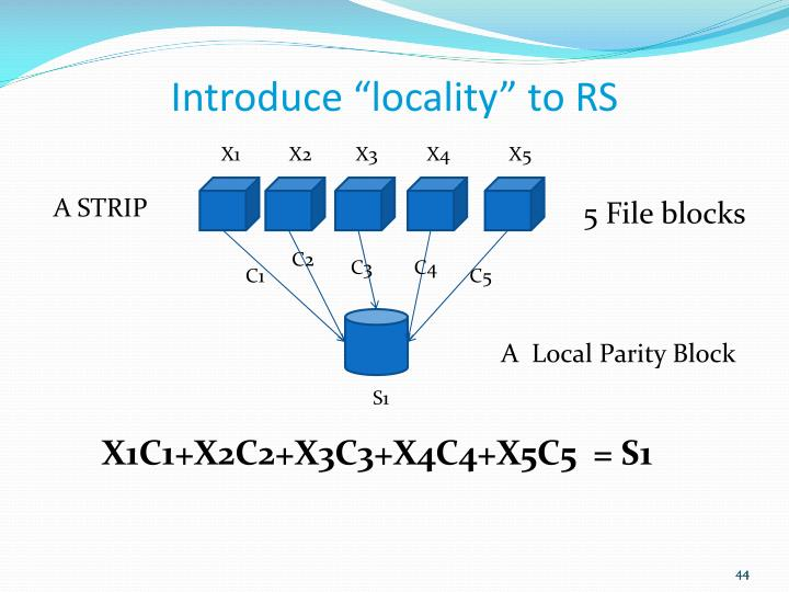 "Introduce ""locality"" to RS"