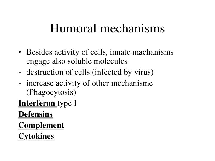 Humoral mechanisms