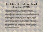 evolution of evidence based practices ebr