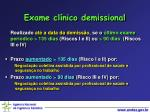 exame cl nico demissional