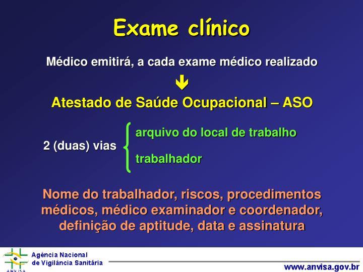 Exame clínico