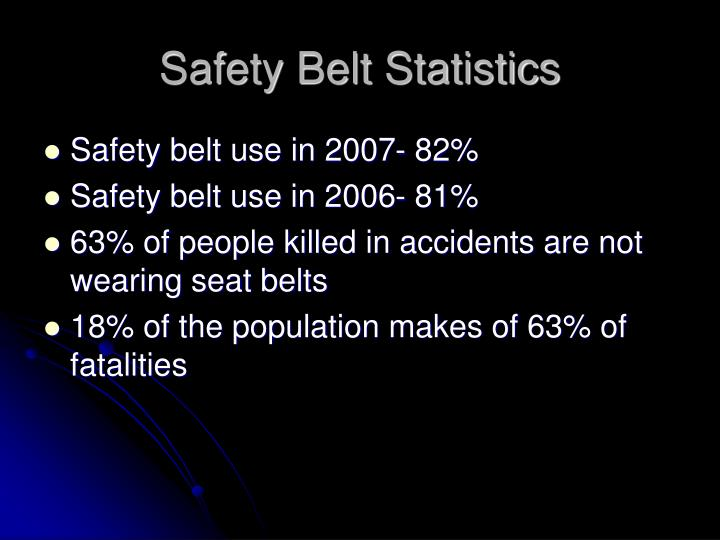 Safety belt statistics