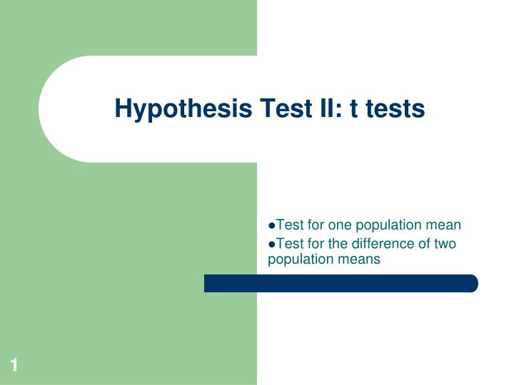 hypothesis testing essay