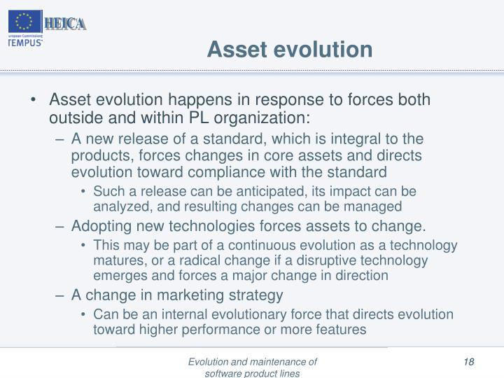 Asset evolution
