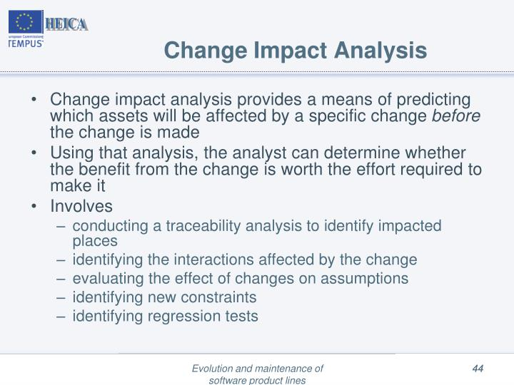 Change Impact Analysis