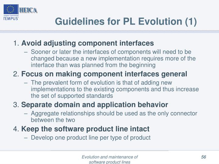 Guidelines for PL Evolution (1)