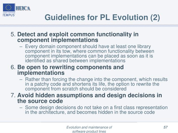 Guidelines for PL Evolution (2)