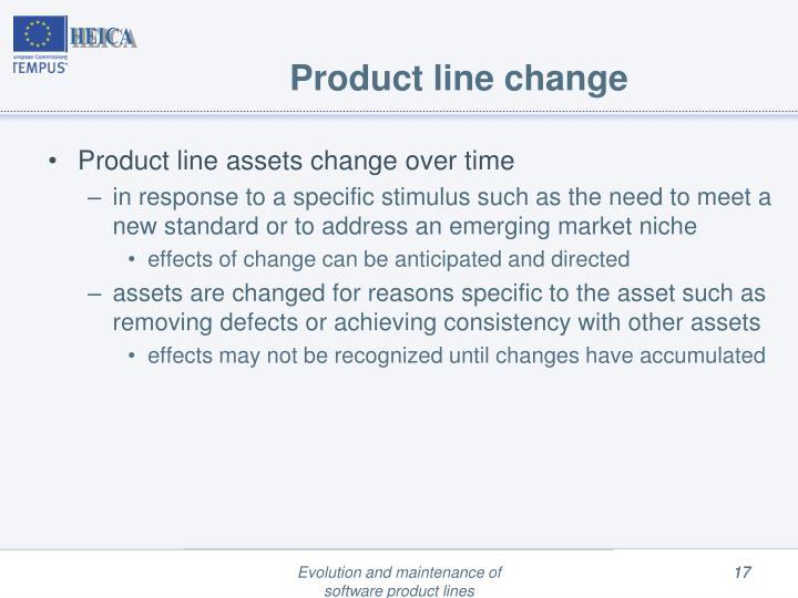Product line change