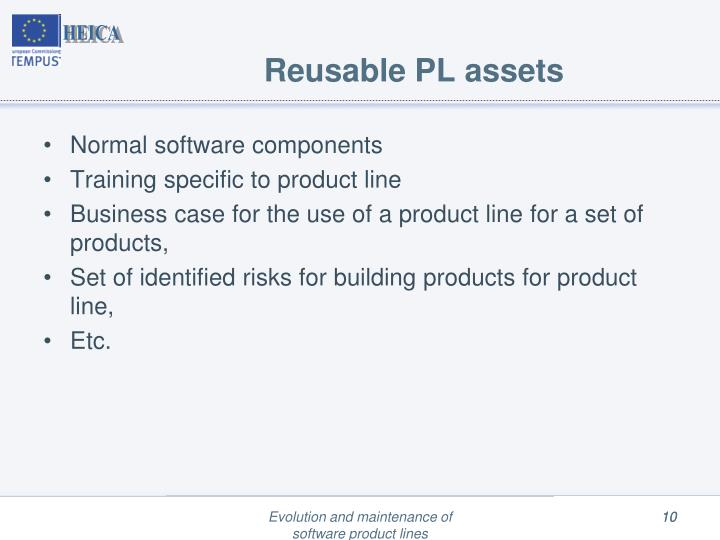 Reusable PL assets