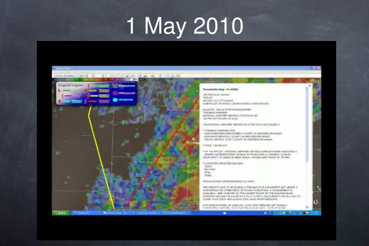 1 May 2010