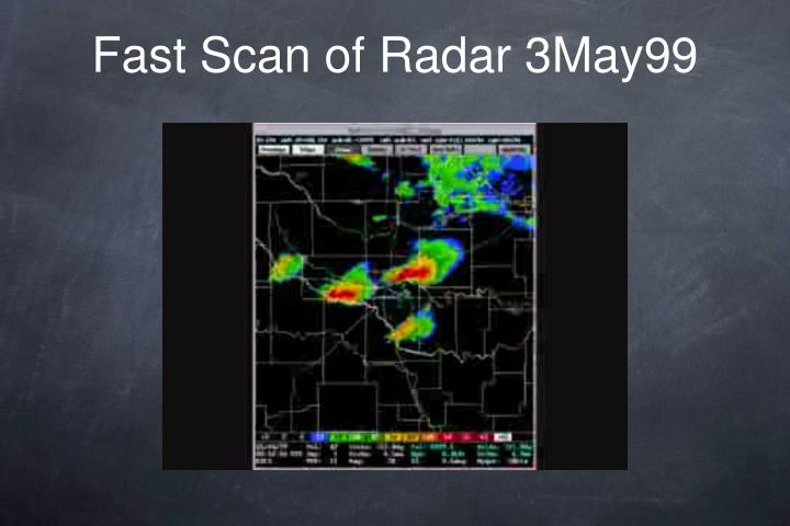 Fast Scan of Radar 3May99