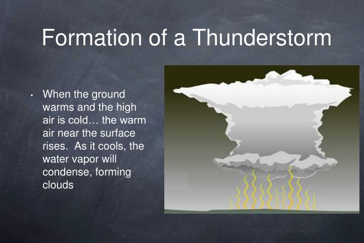Formation of a thunderstorm