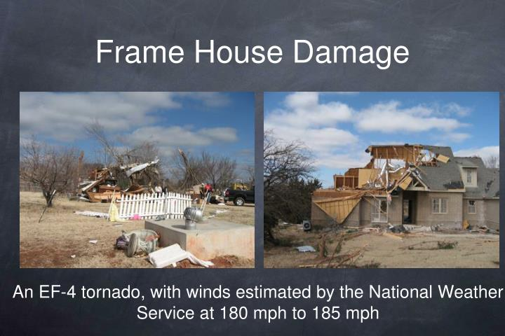 Frame House Damage