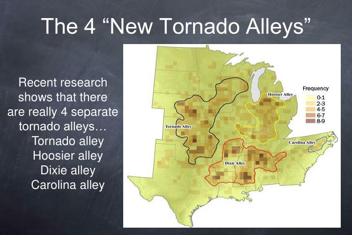"The 4 ""New Tornado Alleys"""