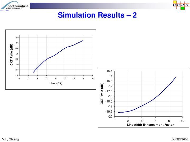 Simulation Results – 2