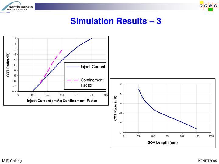 Simulation Results – 3