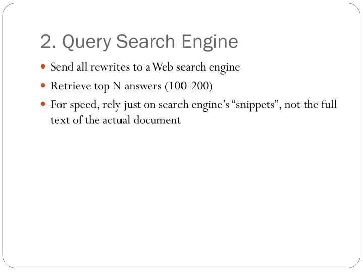 2. Query Search Engine