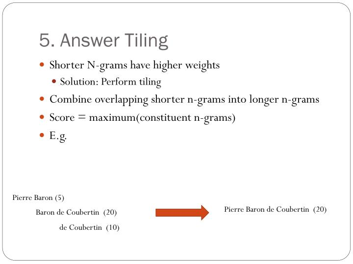 5. Answer Tiling