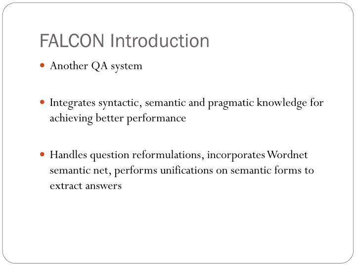 FALCON Introduction