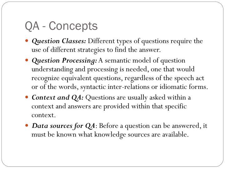 QA - Concepts