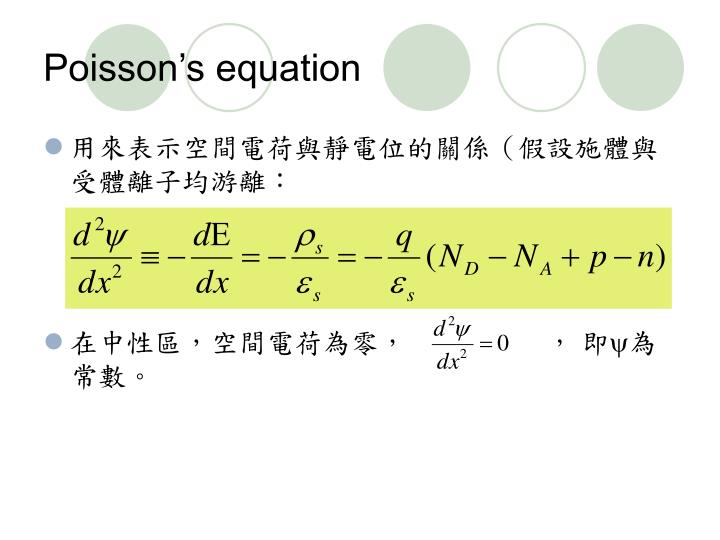 Poisson's equation