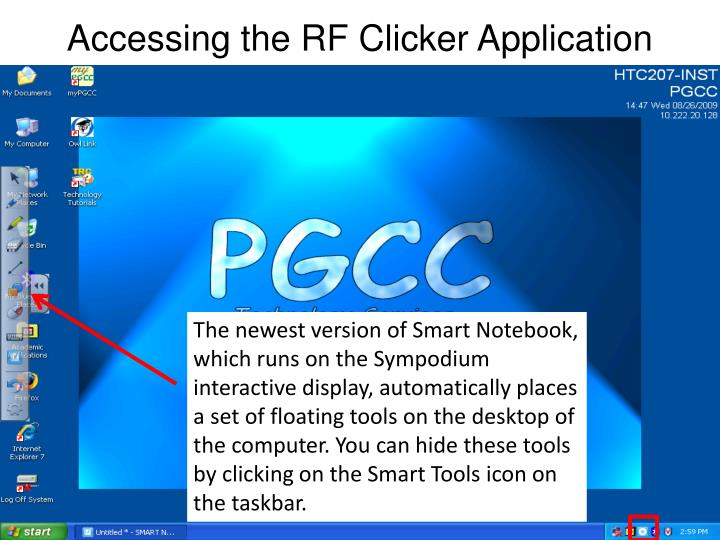 Accessing the rf clicker application1