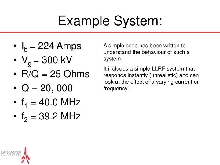 Example System: