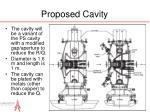 proposed cavity