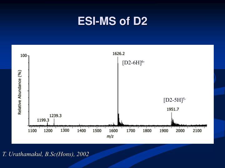 ESI-MS of D2