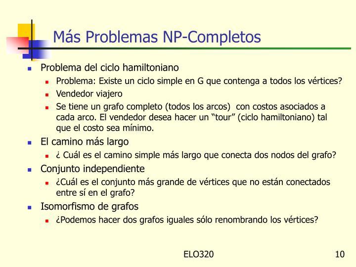 Más Problemas NP-Completos