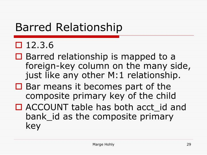 Barred Relationship