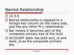 barred relationship