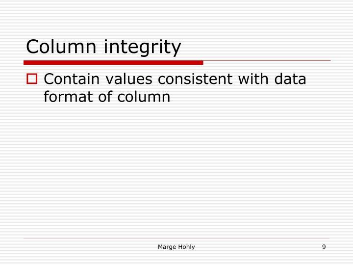 Column integrity