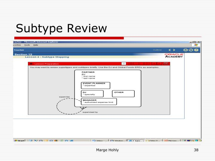 Subtype Review